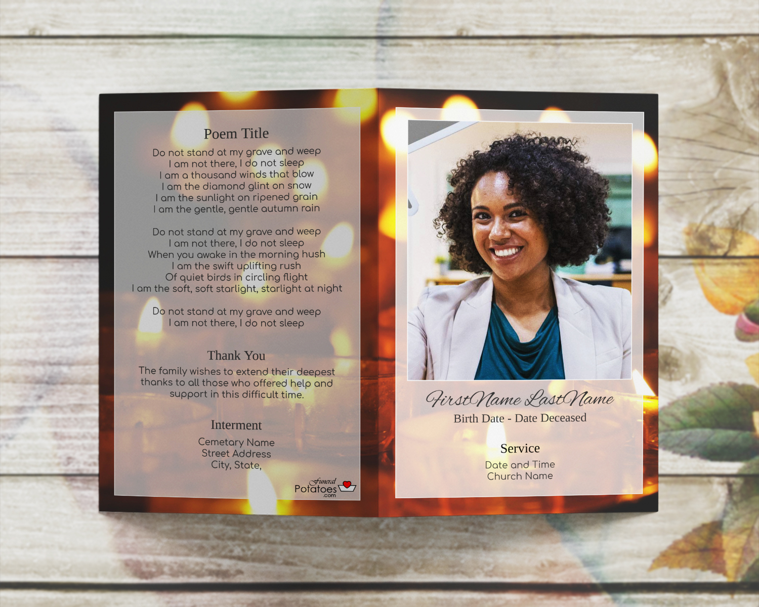 Creating Your Own Funeral Booklet Memorial Service Program