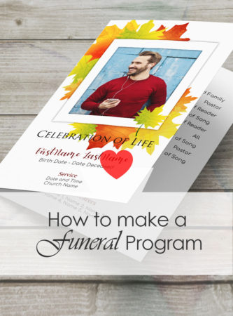how to make a memorial service program or funeral booklet funeral